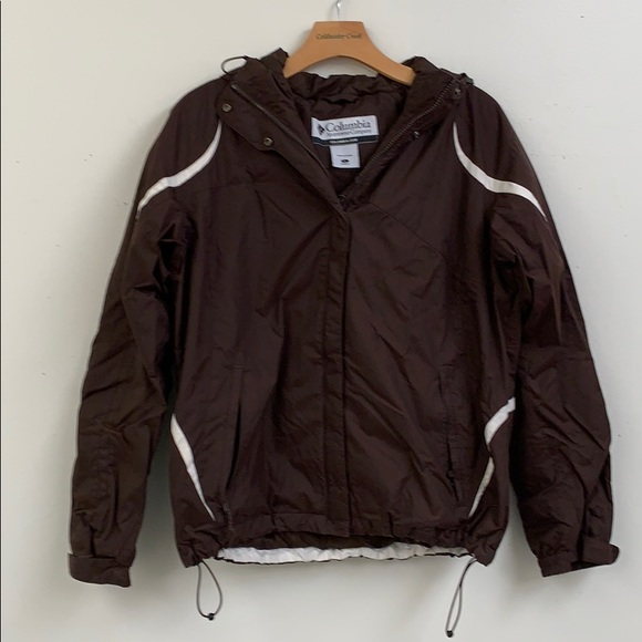 Columbia Jackets & Blazers - Columbia Dark Brown Coat with Hood Size L
